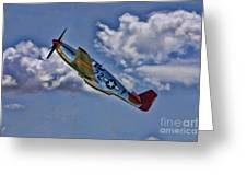 Tuskegee Mustang Red Tail Greeting Card