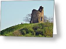 Tutbury Castle Ruins Greeting Card