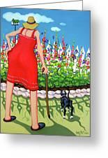 Tuxedo Cat - Edens Garden Greeting Card