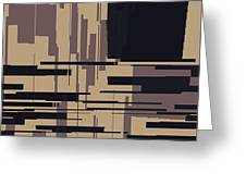 Tv Off Abstract Greeting Card