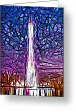 Tv Tower Greeting Card