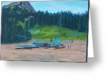 Twa Mountaintop Cabin Greeting Card