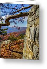Twenty Minute Cliff Blue Ridge Parkway I Greeting Card