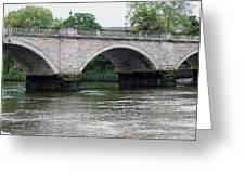 Twickenham Bridge Spans The Thames Greeting Card