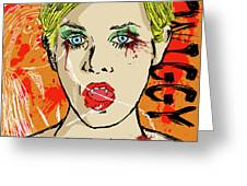 Twiggy Got Jealous Greeting Card by Sean King