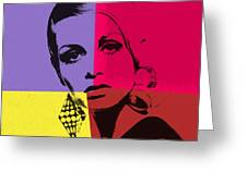 Twiggy Pop Art 1 Greeting Card