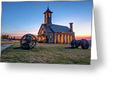Twilight At Chapel Of The Ozarks - Top Of The Rock Missouri Greeting Card