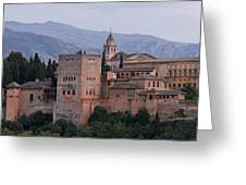 Twilight At The Alhambra Greeting Card