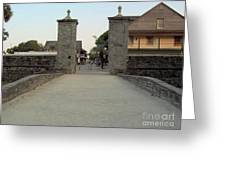 Twilight At The City Gates Greeting Card