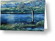 Twilight At The River Greeting Card