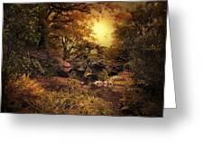 Twilight Autumn Garden Greeting Card