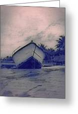 Twilight Boat  Greeting Card