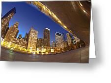 Twilight Chicago Skyline  Greeting Card