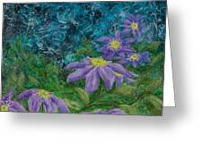 Twilight Clematis Greeting Card