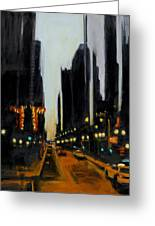Twilight In Chicago Greeting Card