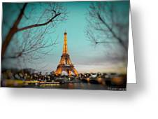 Eiffel Tower At Twilight  Greeting Card