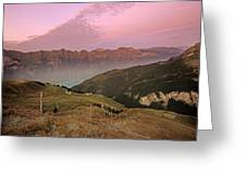 Twilight In The Alps Greeting Card