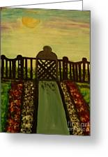 Twilight In The Park Greeting Card by Marie Bulger