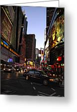 Twilight In The Streets Greeting Card