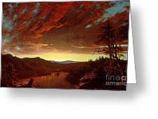 Twilight In The Wilderness Greeting Card