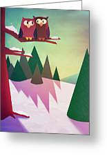 Twilight In The Woods Greeting Card