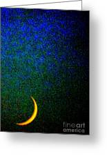 Cornicopial Cresent Moon  Greeting Card