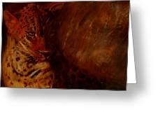Twilight Leopard Greeting Card
