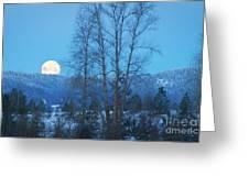 Twilight Moon Greeting Card