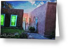 Twilight On Bent Street Greeting Card by Kate Word