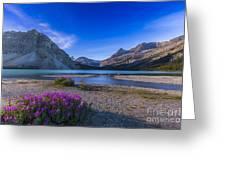 Twilight On Bow Lake, Banff National Greeting Card