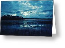 Twilight On The Lake Greeting Card