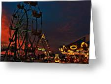 Twilight On The Midway  Greeting Card