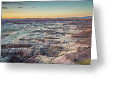 Twilight Over The Painted Desert Greeting Card