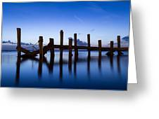 Twilight Piers Greeting Card