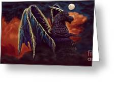 Twilight Storm Dragon Greeting Card