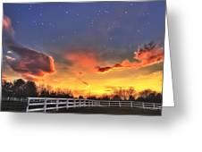 Twilight Sunset Greeting Card