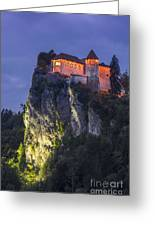 Bled Castle Greeting Card