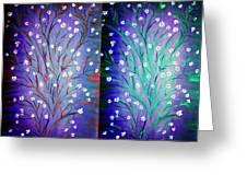 Twin Beauty-2 Greeting Card by Karunita Kapoor