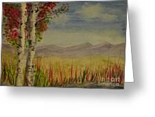 Twin Birch Trees Greeting Card