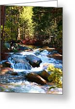 Twin Bridges Cascades Greeting Card