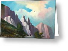 Twin Buttes Greeting Card
