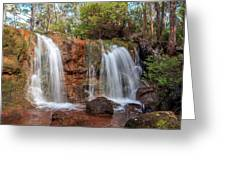 Twin Falls At Ironstone Gully Greeting Card