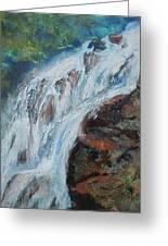 Twin Falls Cascade Greeting Card