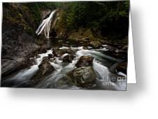 Twin Falls Landscape Greeting Card