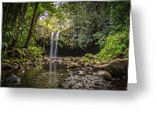 Twin Falls, Maui Greeting Card