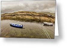 Twin Fishing Boats Greeting Card