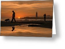 Twin Lakes Sunset Reflected Greeting Card