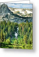 Twin Lakes Waterfall Greeting Card