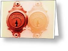 Twin Lock Greeting Card