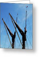 Twin Mast Greeting Card by Terence Davis